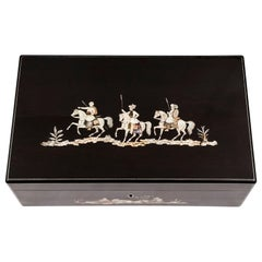 Coromandel Mother-of-Pearl Writing Box by W. C. Fuller, 19th Century