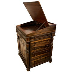 CoromandelWood Davenport Desk, William IV, in the Style of Waring and Gillows