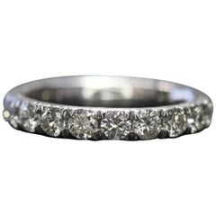 Corona 18 Karat White Gold Diamond Eternity Ring 1.50 Carat