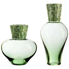 Corona Diadema Vases Green