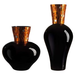Corona Diadema Vases Orange Gold