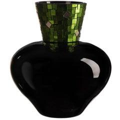 Corona Gold Green Vase