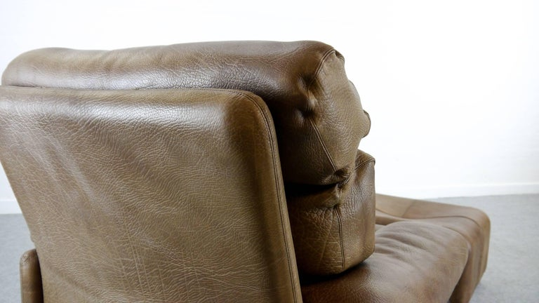 Coronado Chair with Footrest in Brown Leather, Tobia Scarpa for B&B Italia, 1966 For Sale 6