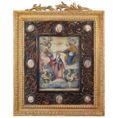 """""""Coronation of the Virgin"""" with Important Frame"""