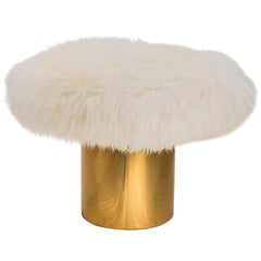 Scharlachroter Pracht Coronum Tischchen mit Fuzzy Top von Artefatto Design Studio