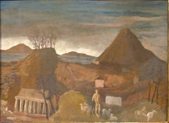 Landscape - Original Oil on Cardboard by Corrado Cagli - 1932 ca.