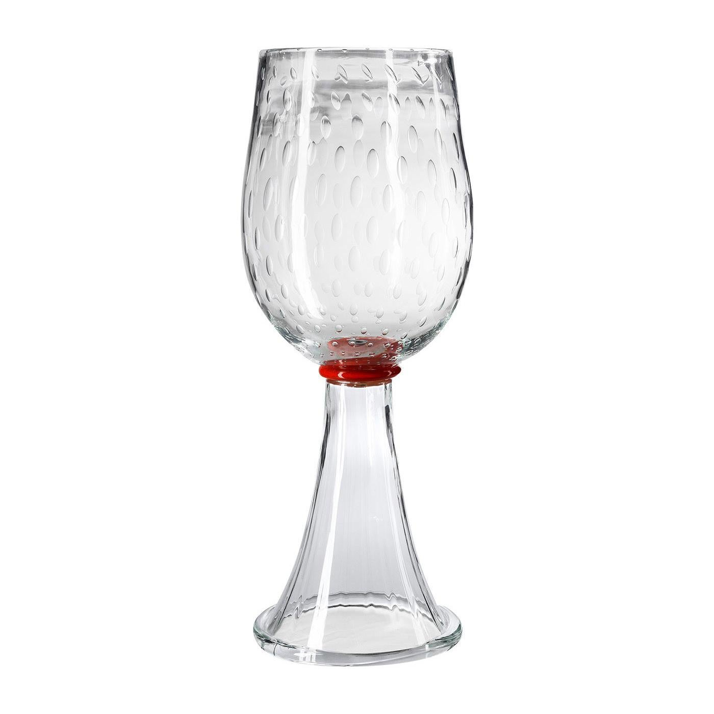 Correr Clear and Orange Vase