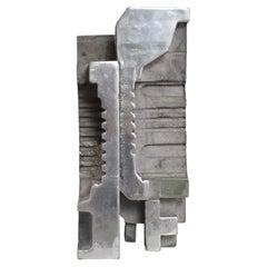 Corrugated Cast Aluminum Brutalist Sculpture Artist Myrna M. Nobile Calif 1969