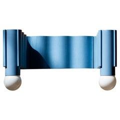 Corrugation Lights Light Blue Double Sconce by Theodora Alfredsdottir