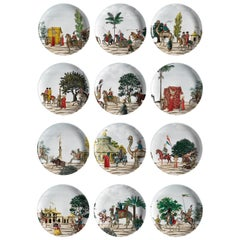 Corteo Porcelain Set of 12 Dinner Plates Made in Italy