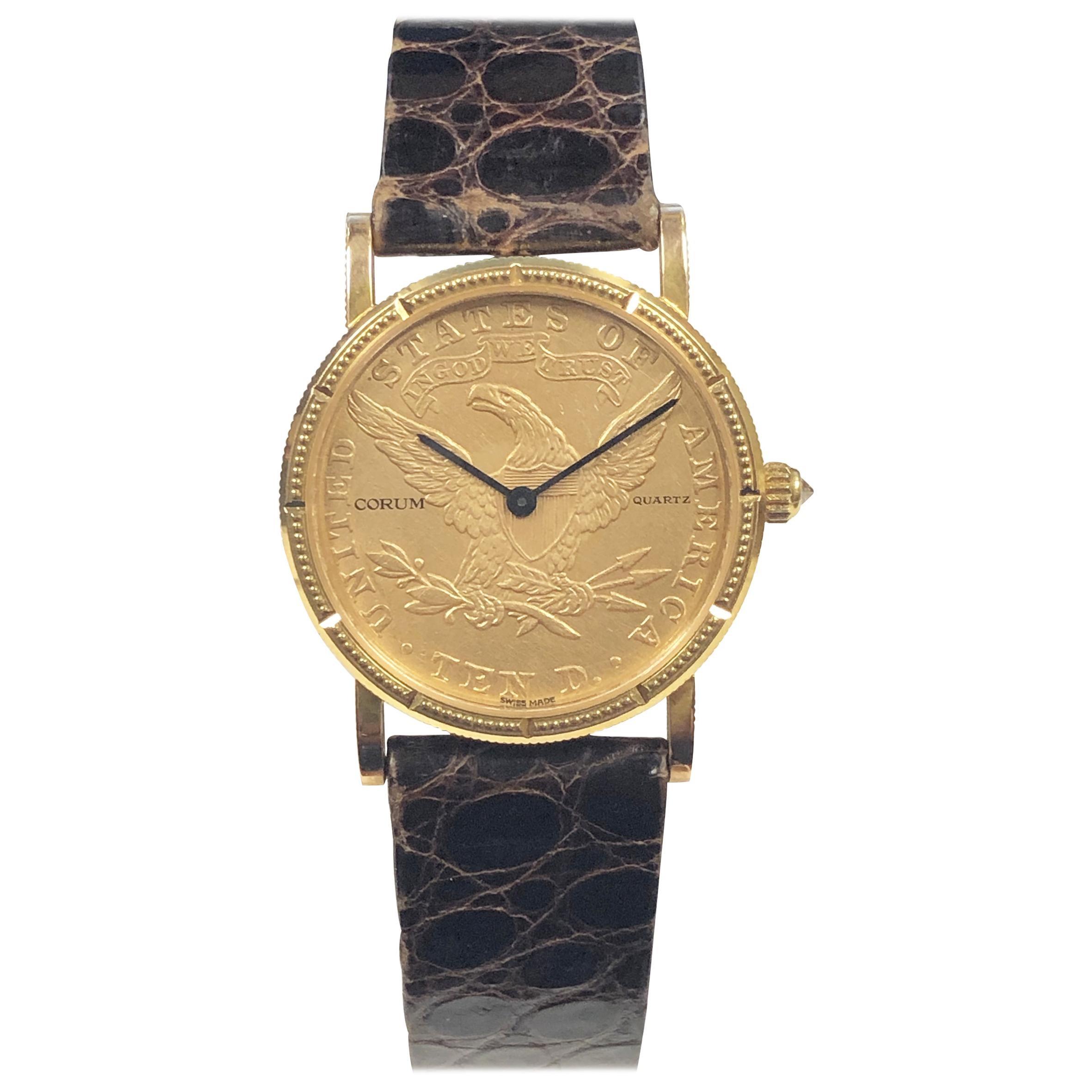 Corum $10 U.S. Gold Coin Quartz Wristwatch