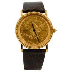 Corum 18 Karat Yellow Gold $10 1865 Coin Watch