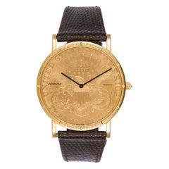 Corum 18 Karat Yellow Gold $20 1896 Gold Coin Quartz Watch