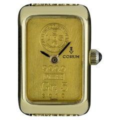 Corum 18 Karat Yellow Gold 5 Grams 999.9 Quartz Ingot Ladies Watch 3010