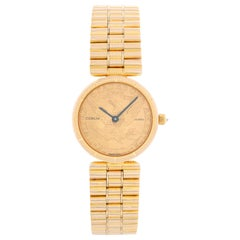 Corum 18 Karat Yellow Gold Coin Ladies Watch