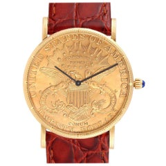 Corum 20 Dollars Double Eagle Yellow Gold Coin Mechanical Men's Watch