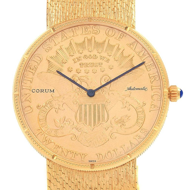 08af97332a2e Corum 20 Dollars Double Eagle Yellow Gold Coin Year 1895 Automatic Watch.  Automatic self-