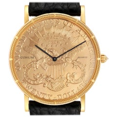Corum 20 Dollars Double Eagle Yellow Gold Coin Year 1896 Men's Watch