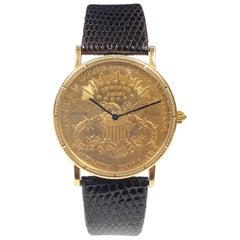 Corum $20 U.S. 1877 Gold Coin Classic Quartz Wristwatch