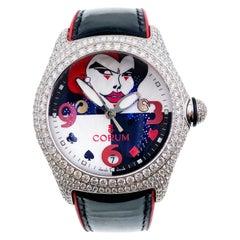 Corum 82.243.69 Joker Bubble 18 Karat White Gold Diamond Bezel 1 of 10 Made Rare