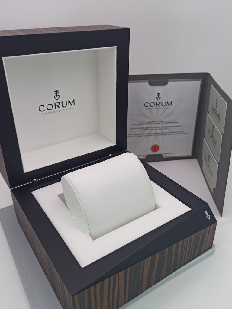 Corum Admiral Cup, Chronograph, 18kt Rose Gold and PVD Steel Case For Sale 3