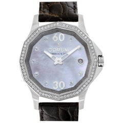 Corum Admirals Cup 01.0091 Steel, Mother of Pearl Dial, Diamond Bezel Automatic