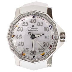 CORUM Admiral's Cup Competition 40 Automatic Watch with Diamond Bezel