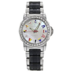 Corum Admiral's Cup MOP Dial Diamond Steel Automatic Ladies Watch 145.440.47
