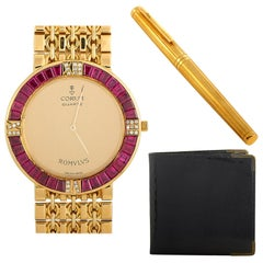 Corum and Asprey Watch, Pen and Wallet Set