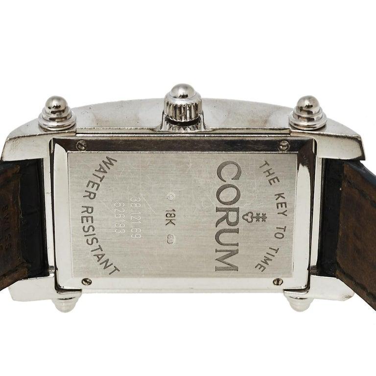 Corum Black 18K White Gold Diamond Pave Moonlight Women's Wristwatch 25 For Sale 3