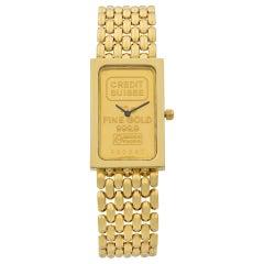 Corum Credit Suisse 10g. 999.9 Pure Gold and 18 Karat Yellow Gold Ladies Watch