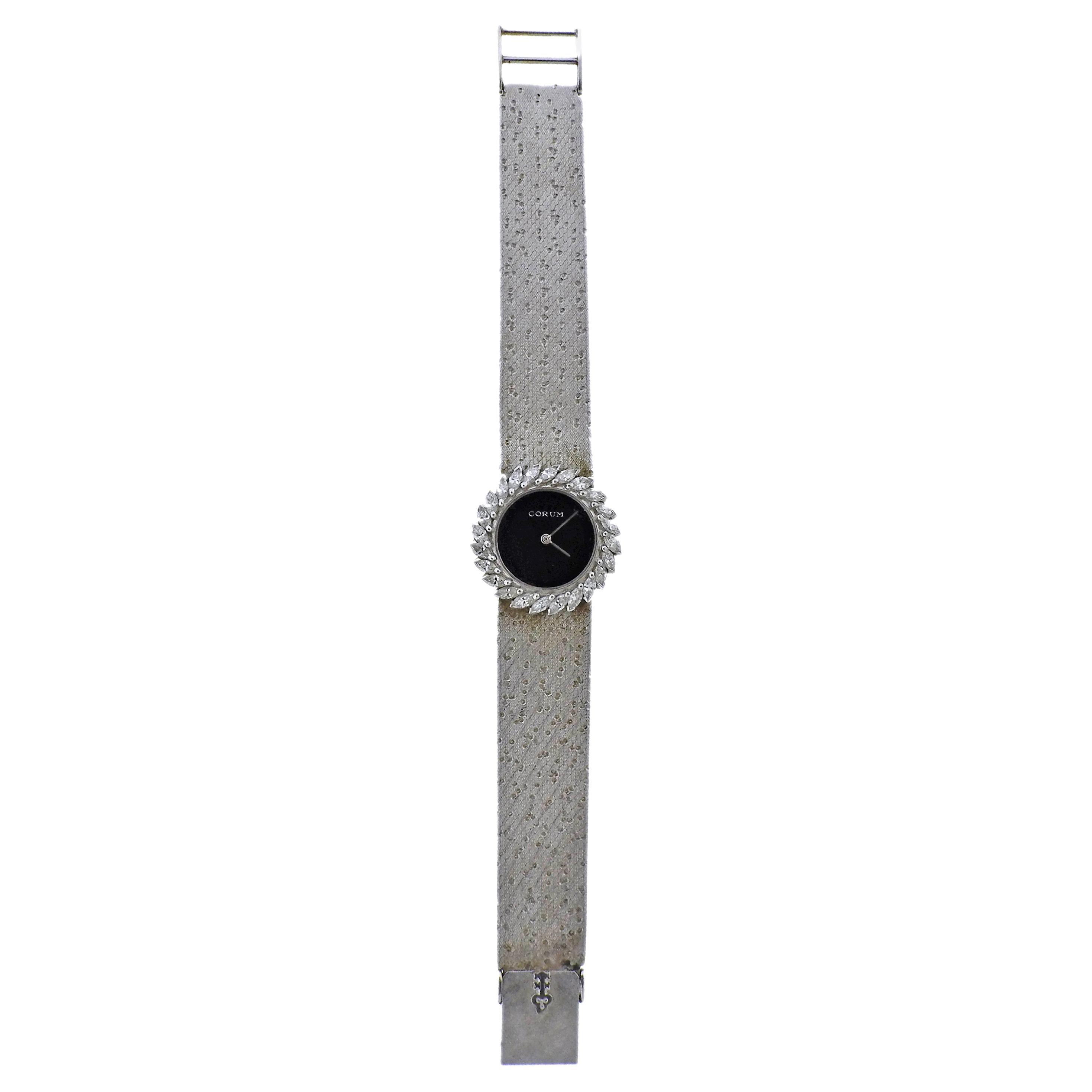Corum Diamond White Gold Lady's Watch