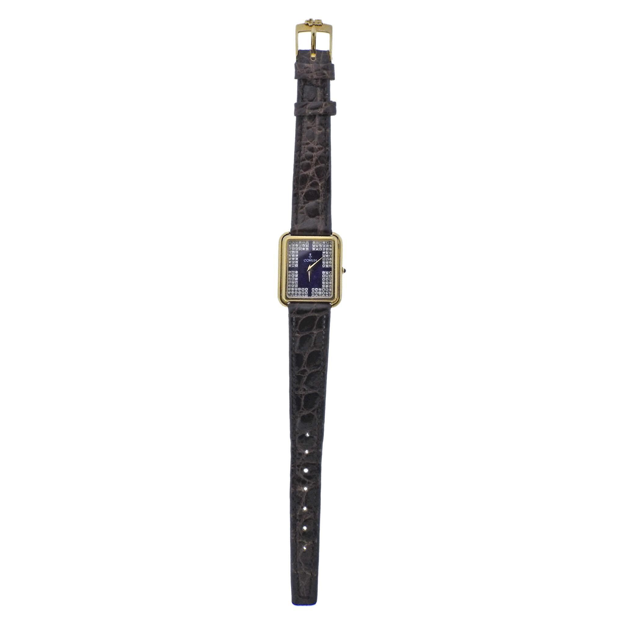 Corum Gold Diamond Lapis Dial Watch