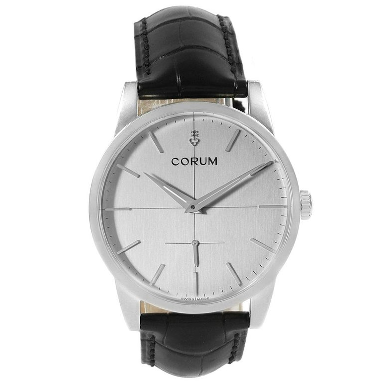 Corum Heritage Silver Dial Steel Men's Watch V157/02614 For Sale 4
