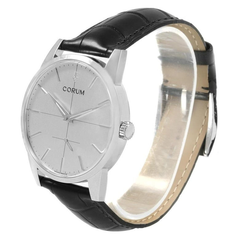 Corum Heritage Silver Dial Steel Men's Watch V157/02614 For Sale 5