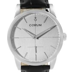 Corum Heritage Silver Dial Steel Men's Watch V157/02614 Unworn