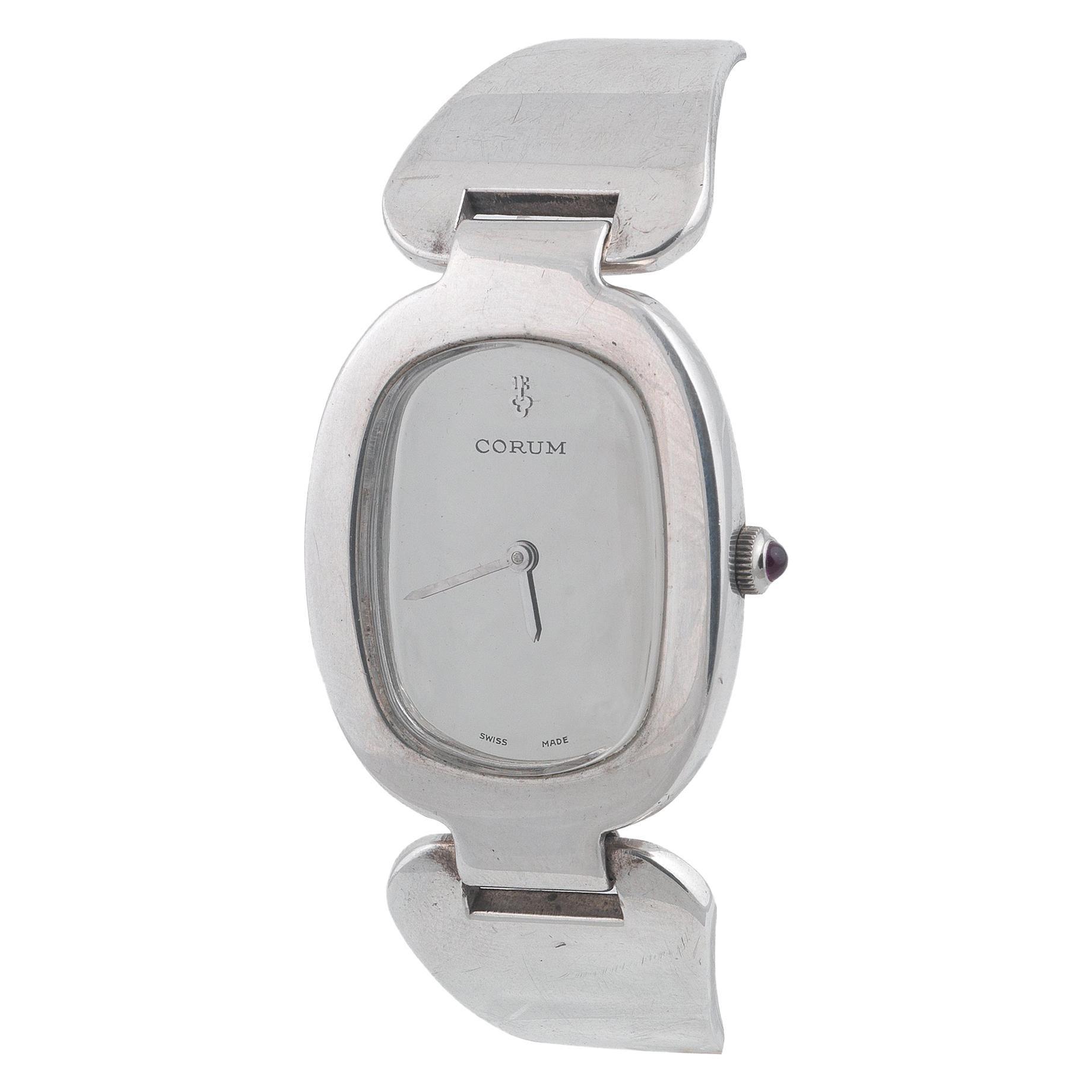 Corum Love Bond Ladies Vintage Bangle Bracelet Watch Sterling Silver