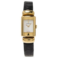 Corum Mother of Pearl 18K Yellow Gold Classic Women's Wristwatch 16MM