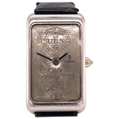 Corum Platinum and Diamond Watch 10 Gram UBS Ingot Bar Rare