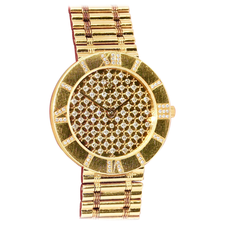 Corum Romvlvs, Romulus Ladies Wristwatch, 18 Karat Gold and Diamonds