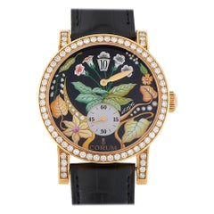 Corum Rose Gold Diamond Flower Dial Watch 154.201.65