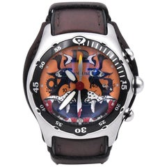 Corum Stainless Steel Bubble Dive Bomber Tigers Head Chronograph
