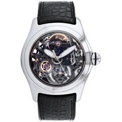 Corum stainless steel Bubble Skeleton automatic Wristwatch