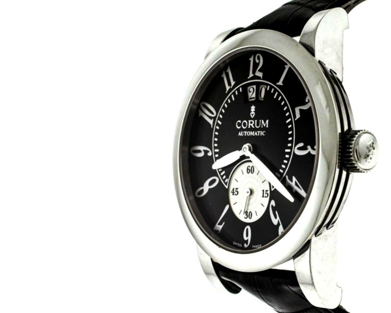 — Model #: 922.201.20 — Movement: Automatic — Case Diameter: 42x51mm — Case Material: Stainless Steel — Crystal Material: Sapphire — Case Back: Solid — Dial Color: Black — Dial Markers: Arabic Numerals — Crown Type: Push/Pull — Bracelet