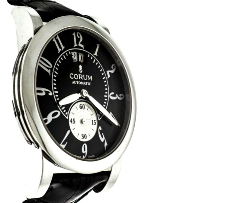 Corum Stainless Steel Classical Grande Wristwatch In Good Condition For Sale In Switzerland, CH