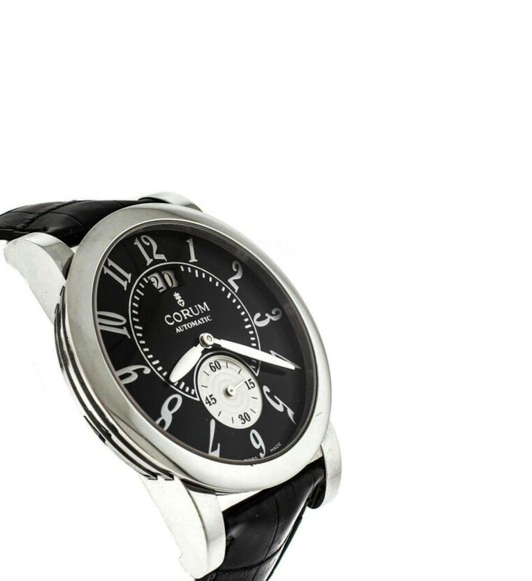 Men's Corum Stainless Steel Classical Grande Wristwatch For Sale