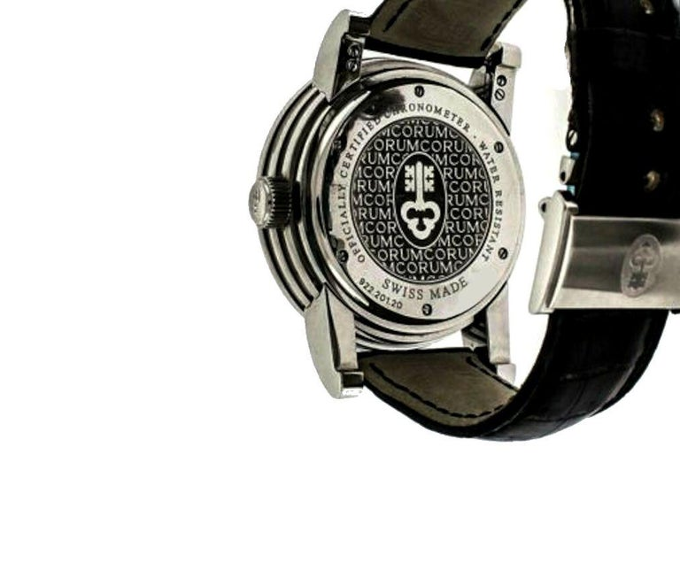 Corum Stainless Steel Classical Grande Wristwatch For Sale 1