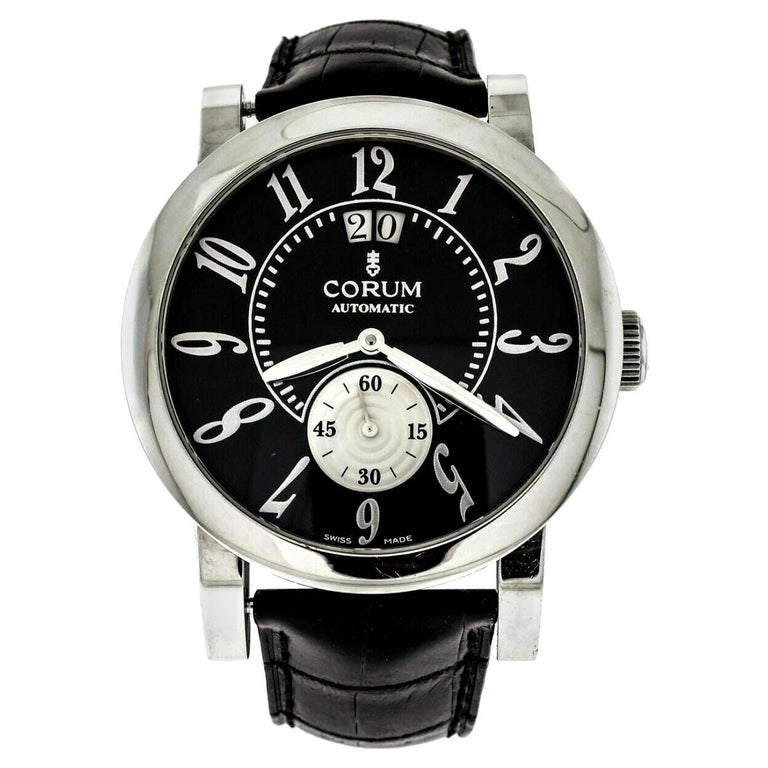 Corum Stainless Steel Classical Grande Wristwatch For Sale