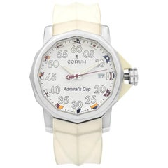 Corum The Admiral's Cup Steel White Dial Automatic Men's Watch 01.0010