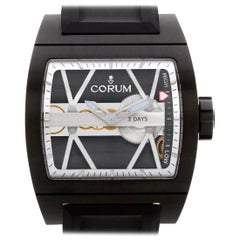 Corum Ti Bridge 050056 Stainless Steel Skeleton Dial Manual Watch